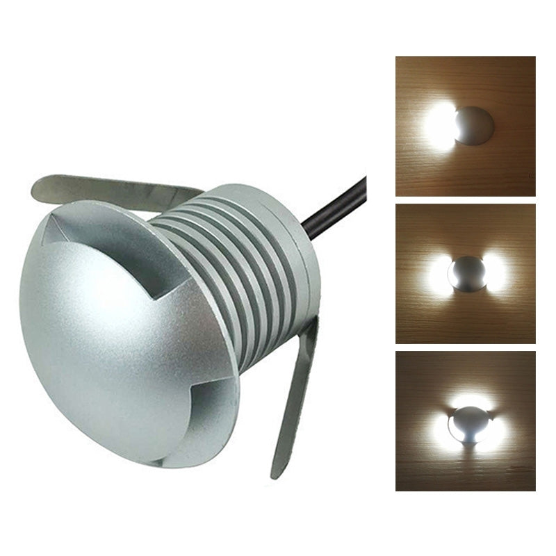 3W LED Embedded Polarized Buried Lamp IP67 Waterproof Turtle Shell Lamp Outdoor Garden Lawn Lamp, White Light 6000K Q2 Two-way Lig