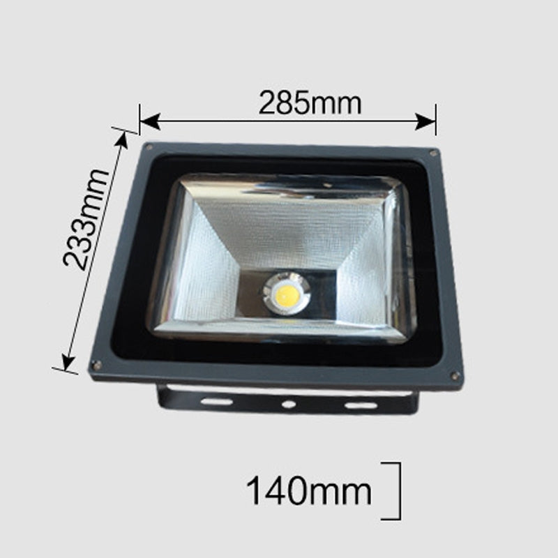 100W LED Engineering Projection Light IP65 Waterproof Turtle Shell Lamp Outdoor Spotlight, White Light