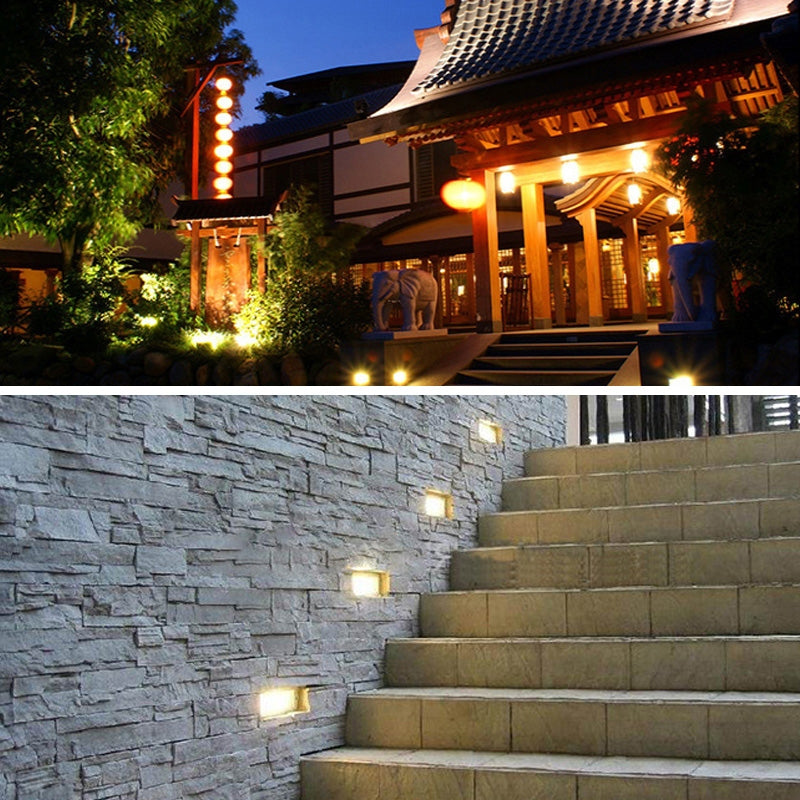3W Blue Light LED Embedded Buried Lamp IP65 Waterproof Rectangular Landscape Platform Stair Step Lamp