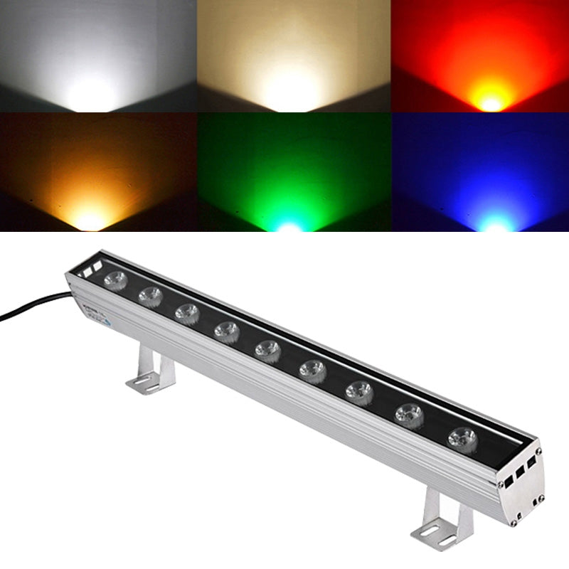 9W LED Embedded Buried Lamp IP65 Waterproof Rectangular Landscape Platform Stair Step Lamp (Seven Colourful Light)