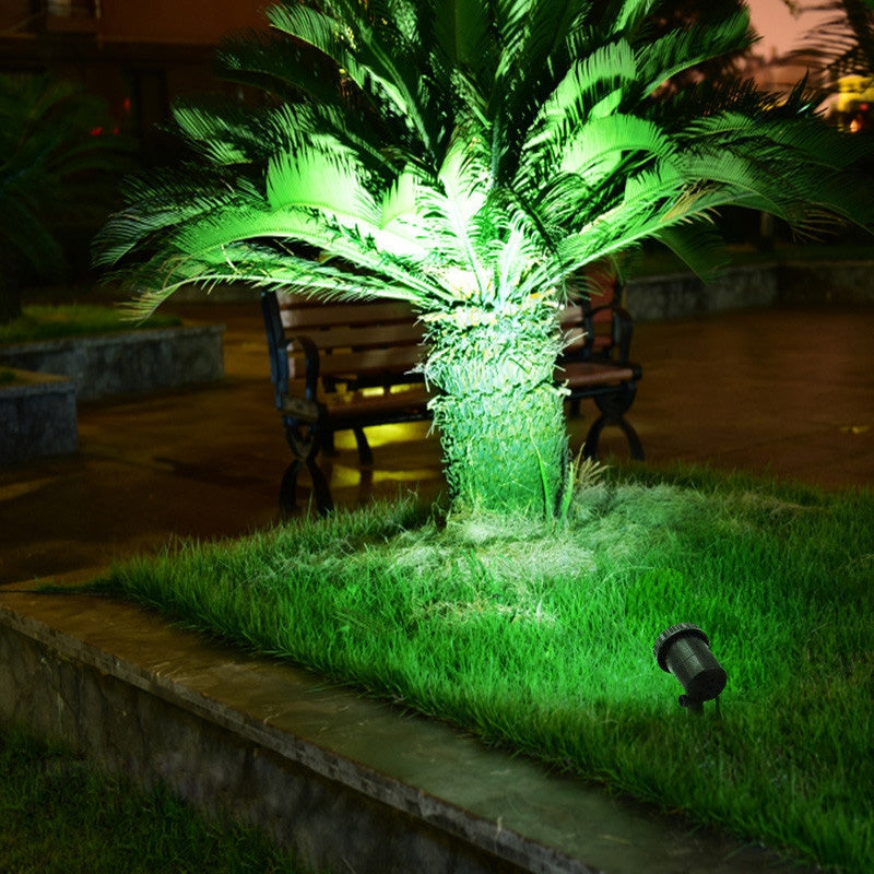 3 In 1 Red Green Blue Light Lawn Insertion Pool Diving Solar Spotlight