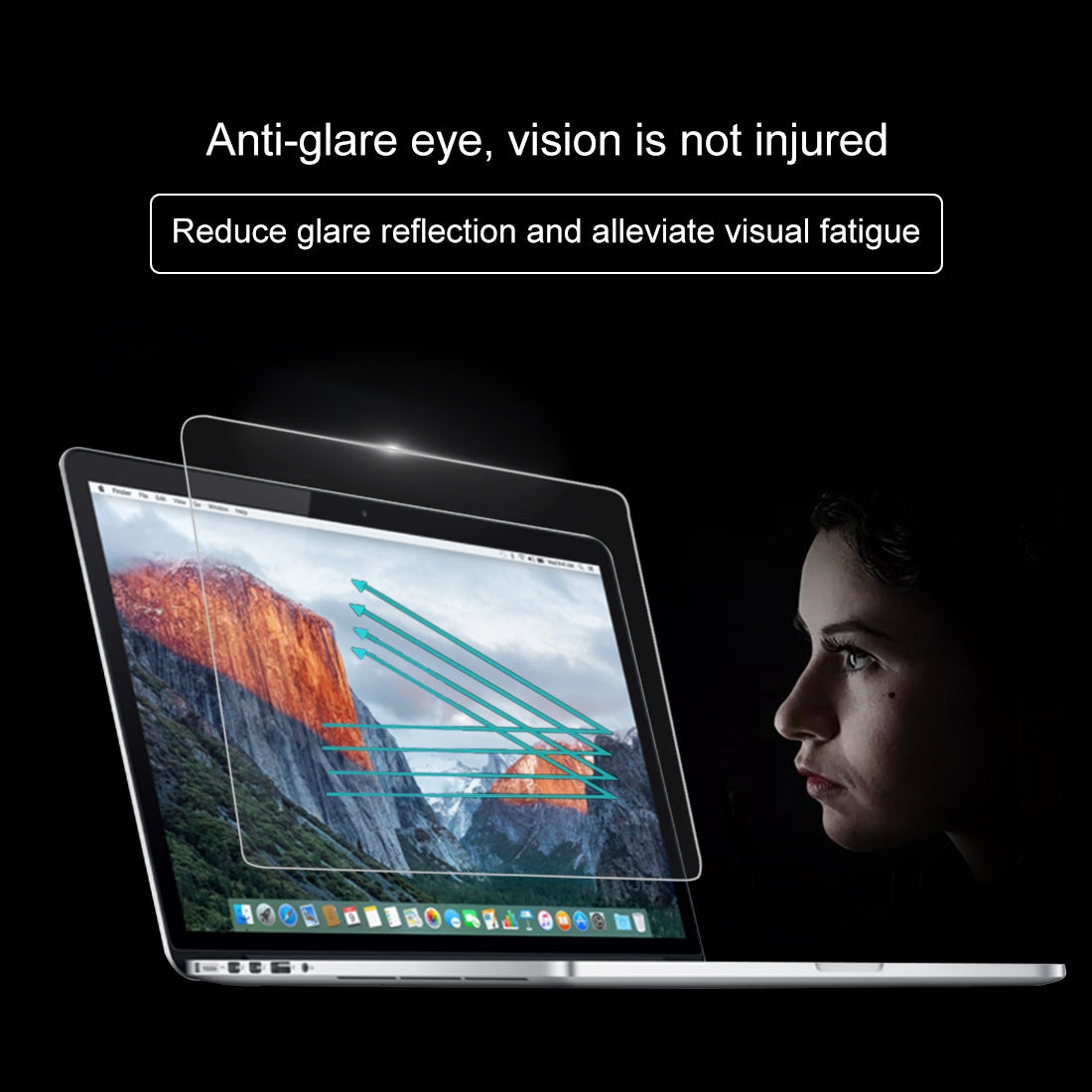 2 PCS For MacBook Pro 16 inch 9H Laptop Screen Tempered Glass Protective Film