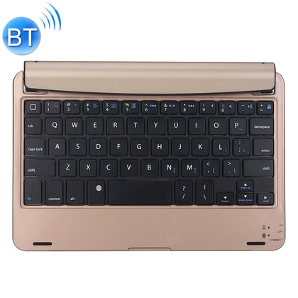 P1302-2 For iPad mini 4 Plug-in Card Slot Plastic Bluetooth Keyboard Protective Cover with Stand Function (Gold)