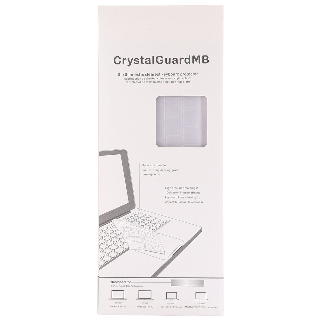 Keyboard Protector TPU Film for MacBook Pro 13 / 15 with Touch Bar (A1706 / A1989 / A1707 / A1990)(White)