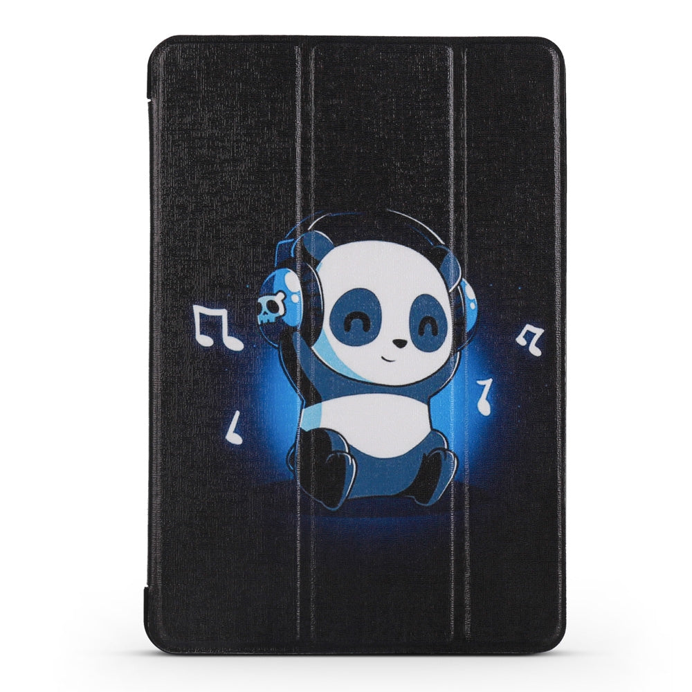Music Panda Pattern Horizontal Flip PU Leather Case for iPad mini 3 / 2 / 1, with Three-folding Holder & Honeycomb TPU Cover