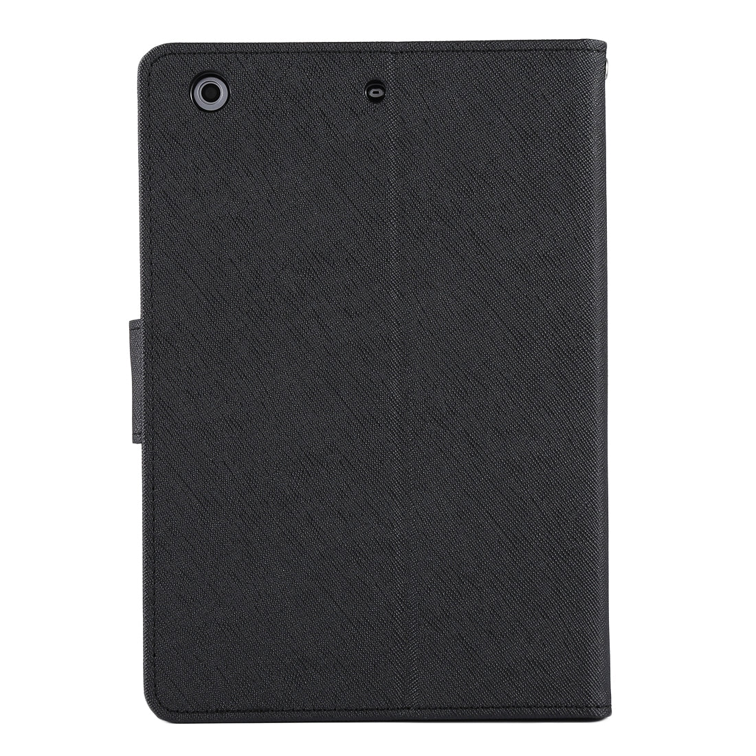GOOSPERY FANCY DIARY for iPad mini 3 / 2 Cross Texture Leather Case with Card Slot & Holder & Wallet(Black)