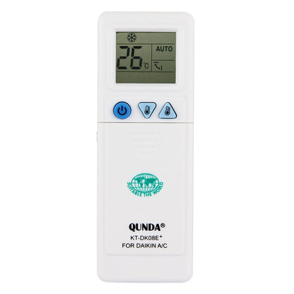 QUNDA KT-DK08E Universal A/C Air-Conditioner Remote Controller with LCD Screen for DAIKIN