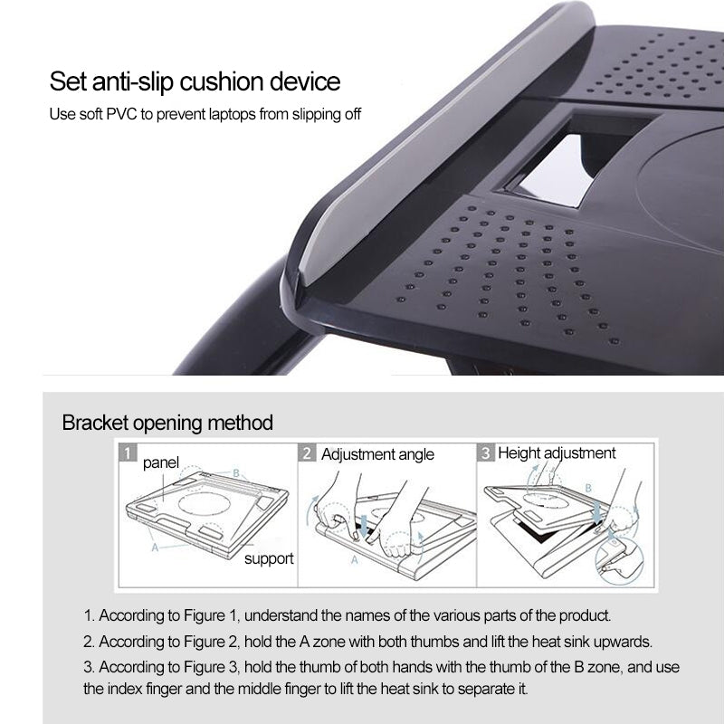 ROOSTAND Laptop Height Extender Holder Stand Folding Portable Computer Heat Dissipation Bracket, Size: 28x29.6cm(White)