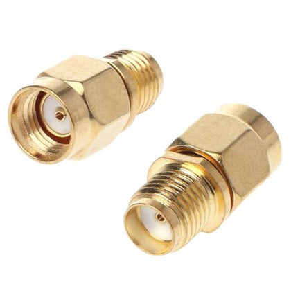 Straight Gold Plated RP-SMA Male to SMA Female Adapter