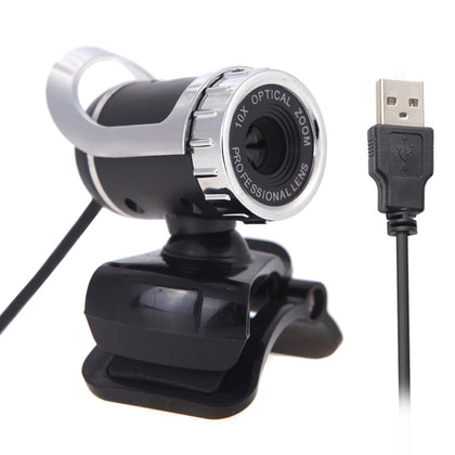 A859 12.0 Mega Pixels HD 360 Degree WebCam USB 2.0 PC Camera with Sound Absorption Microphone for Computer PC Laptop, Cable Length