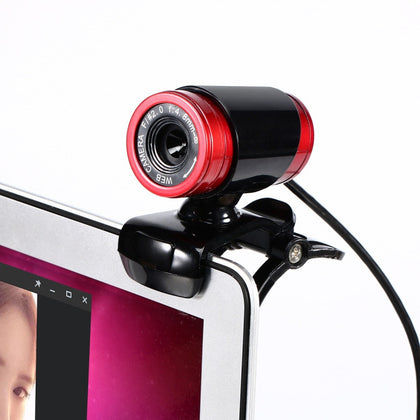 HXSJ A860 30fps 12 Megapixel 480P HD Webcam for Desktop / Laptop, with 10m Sound Absorbing Microphone, Length: 1.4m(Red + Black)