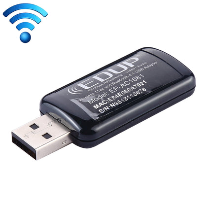 EDUP EP-AC1681 2 in 1 AC1200Mbps 2.4GHz & 5.8GHz Dual Band USB WiFi Adapter External Network Card with Bluetooth 4.1 Function
