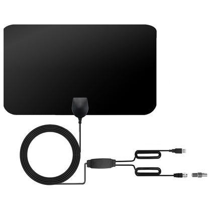 60 Miles Range 25dBi High Gain Amplified Digital HDTV Indoor Outdoor TV Antenna with 4m Coaxial Cable & IEC Adapter