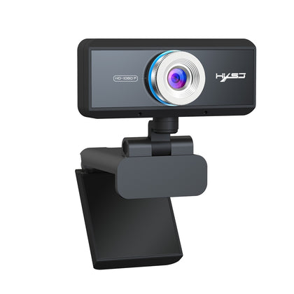 HXSJ S4 1080P Adjustable 180 Degree HD Manual Focus Vedio Webcam PC Camera with Microphone (Black)