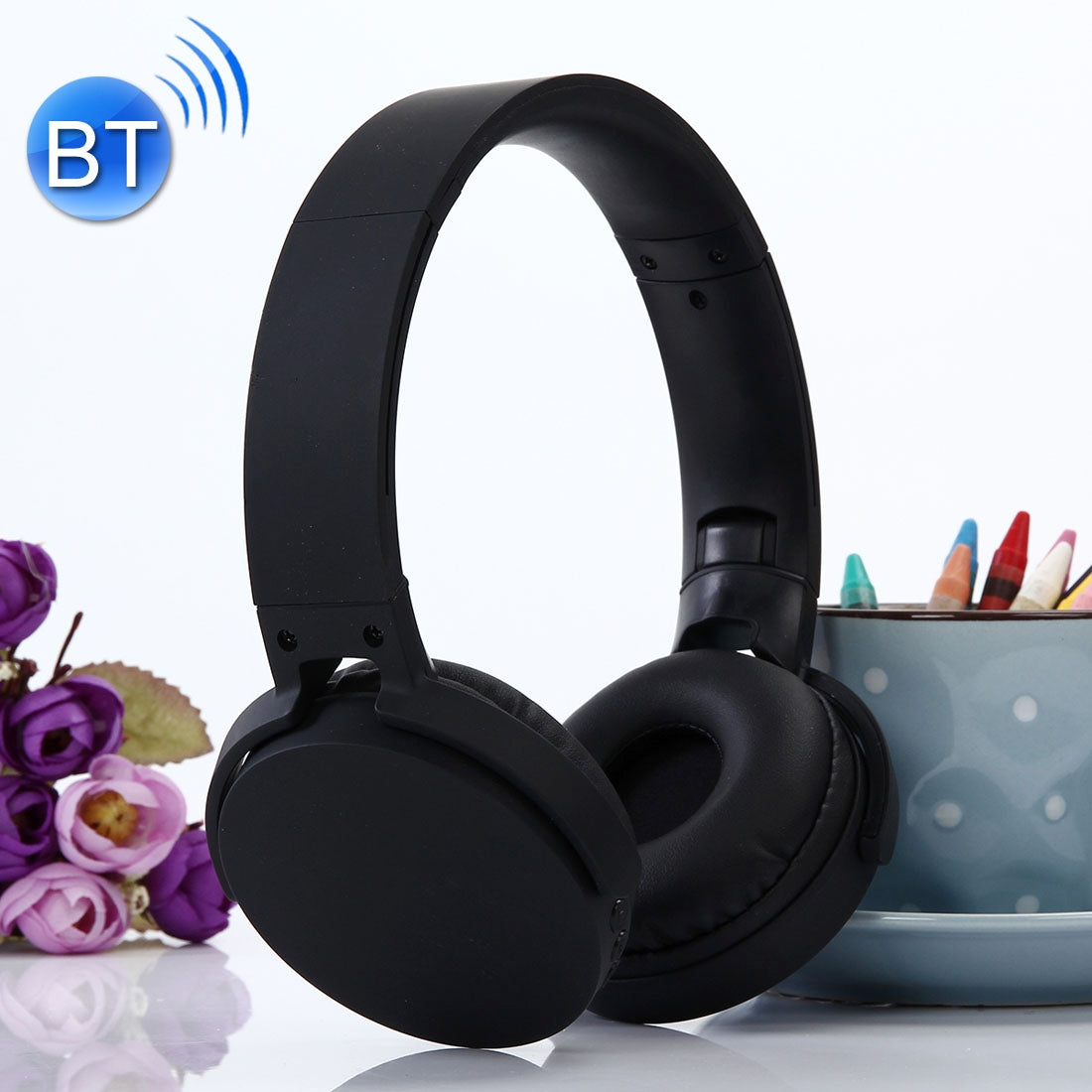 MDR-XB650BT Headband Folding Stereo Wireless Bluetooth Headphone Headset, Support 3.5mm Audio Input & Hands-free Call, For iPhone, iPad, iPod, Samsung, HTC, Xiaomi and other Audio Devices(Black)