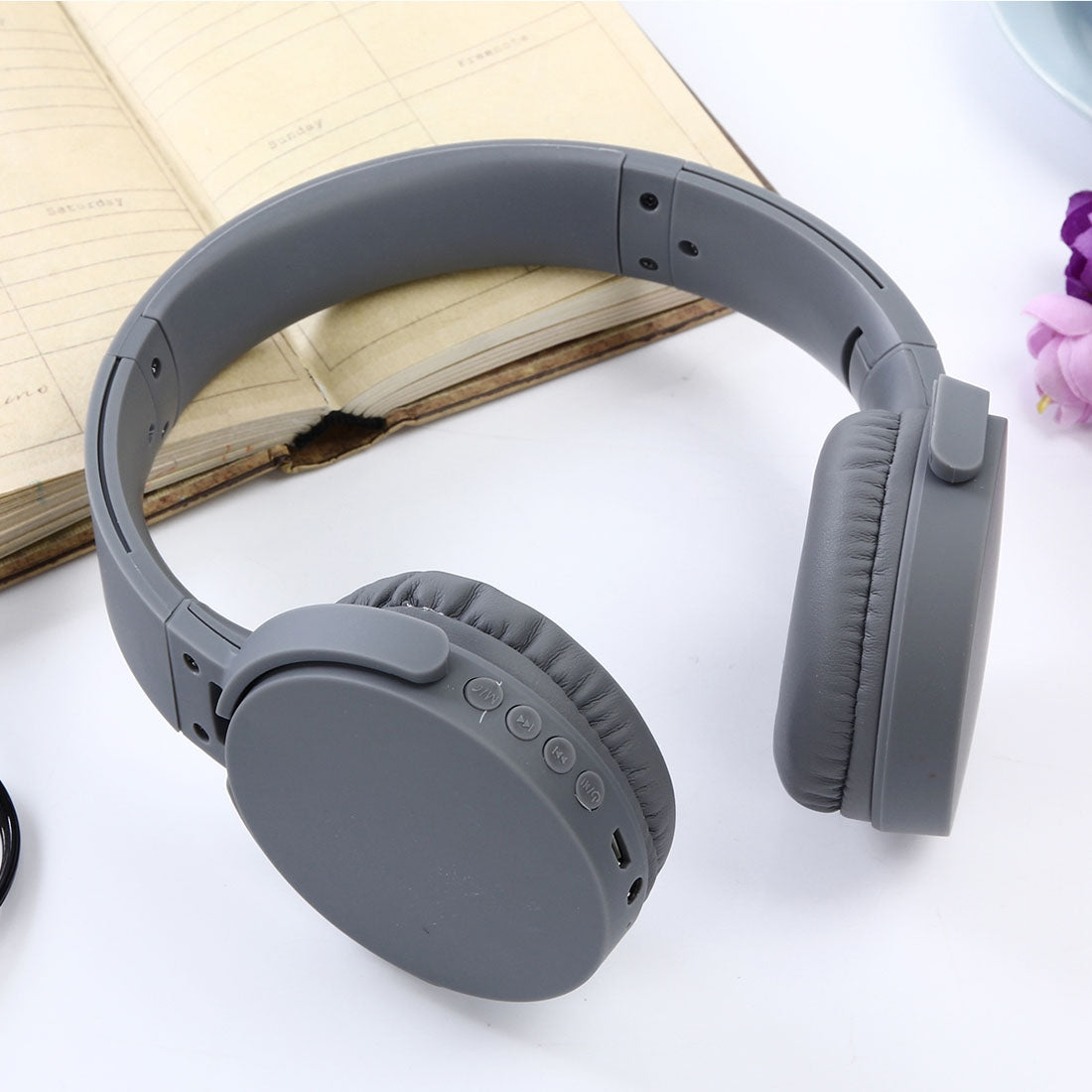 MDR-XB650BT Headband Folding Stereo Wireless Bluetooth Headphone Headset, Support 3.5mm Audio Input & Hands-free Call, For iPhone, iPad, iPod, Samsung, HTC, Xiaomi and other Audio Devices(Grey)