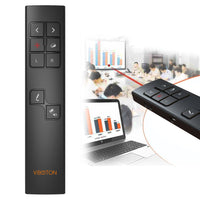 VIBOTON PP930 2.4GHz Multimedia Presentation Remote PowerPoint Clicker Wireless Presenter Handheld Controller Flip Pen, Control Di