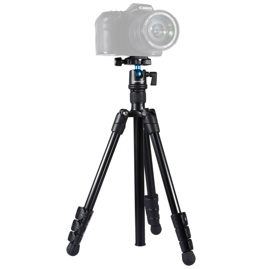 4-Section Folding Legs Metal  Tripod Mount with 360 Degree Ball Head for DSLR & Digital Camera, Adjustable Height: 42-130cm