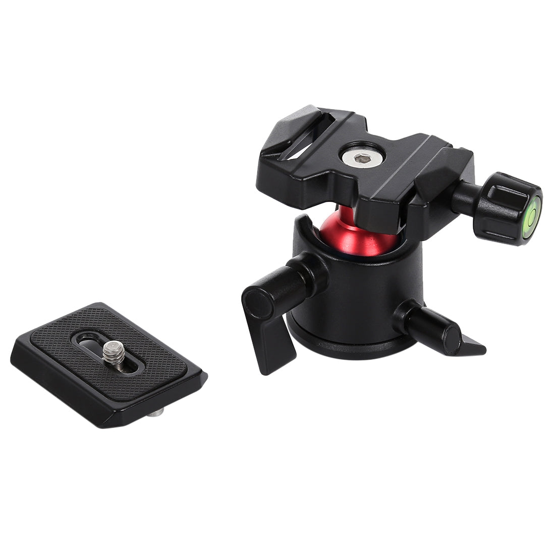 360 Degree Rotation Panoramic Metal Ball Head with Quick Release Plate for DSLR & Digital Cameras(Black)
