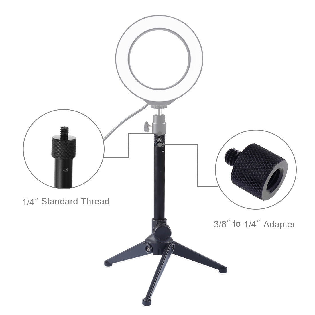Desktop Adjustable Tripod Stand Selfie Stick Mount Holder