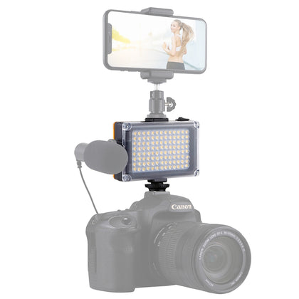 Pocket 104 LED 1800LM Professional Vlogging Photography Video & Photo Studio Light with White and Orange Magnet Filters Light Pan
