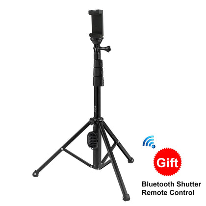 Bluetooth Shutter Remote Selfie Stick Tripod Mount Holder for Vlogging Live Broadcast