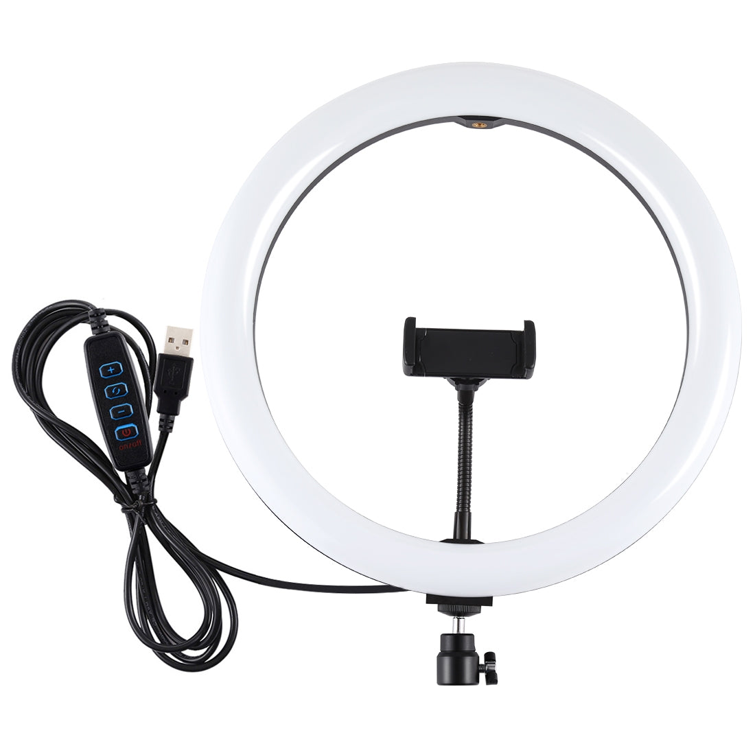 11.8 inch 30cm USB 3 Modes Dimmable Dual Color Temperature LED Curved Diffuse Light Ring Vlogging Selfie Photography Video Lights