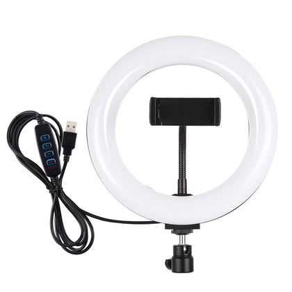 7.9 inch 20cm USB 3 Modes Dimmable Dual Color Temperature LED Curved Light Ring Vlogging Selfie Photography Video Lights with Pho