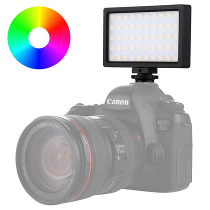 Pocket 100 LED 800LM RGB Full Color Dimmable LED Color Temperature Vlogging On Camera Light Photography Fill Light for Canon, Nik