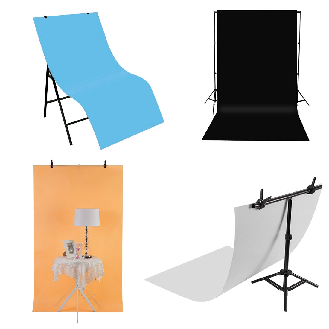 Photography Background PVC Paper Kits for Studio Tent Box, Size: 120cm x 60cm(Blue)