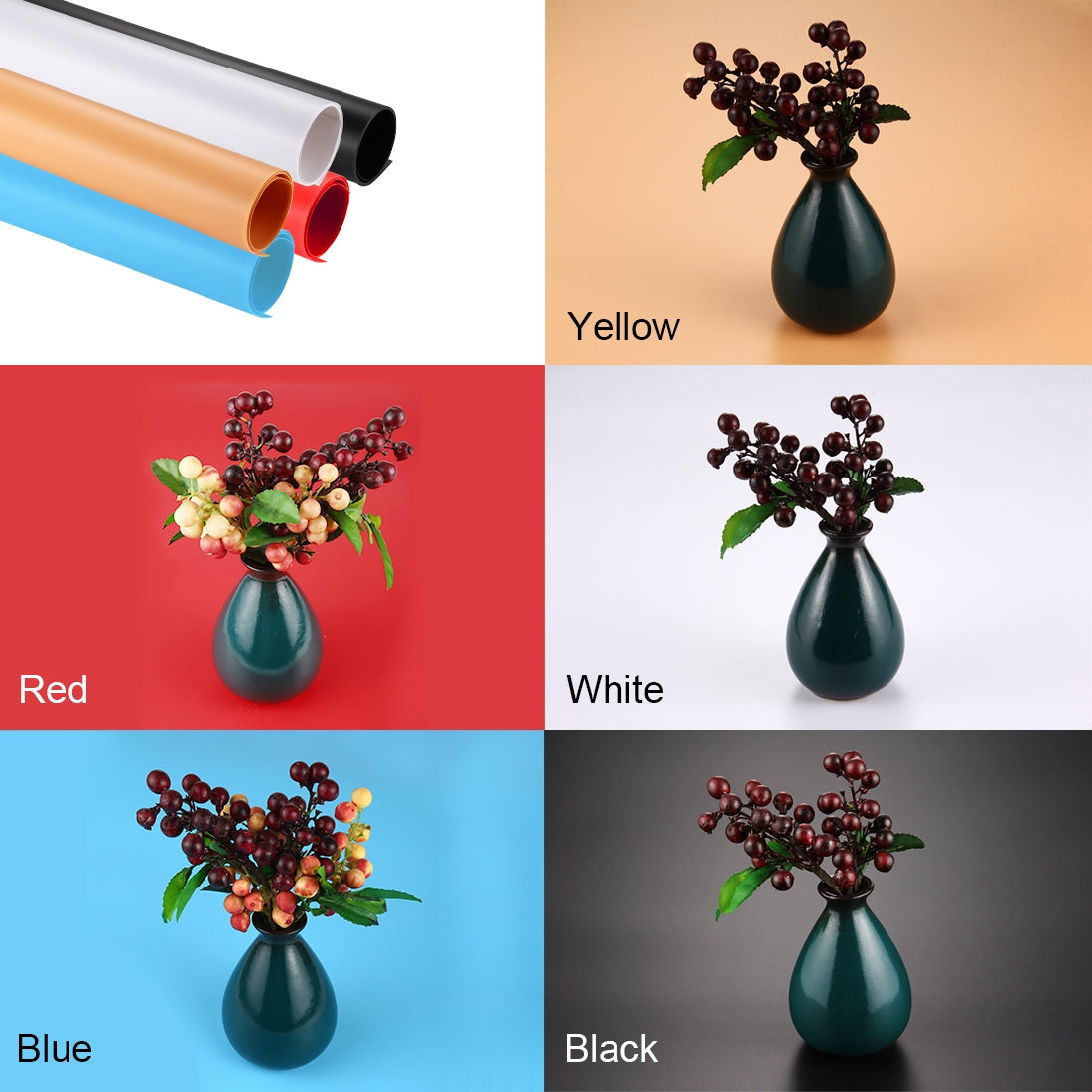 Photography Background PVC Paper Kits for Studio Tent Box, Size: 120cm x 60cm(Red)