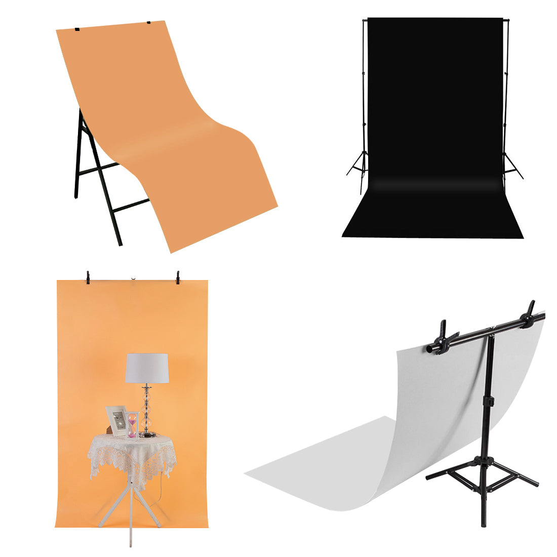 Photography Background PVC Paper Kits for Studio Tent Box, Size: 120cm x 60cm(White)