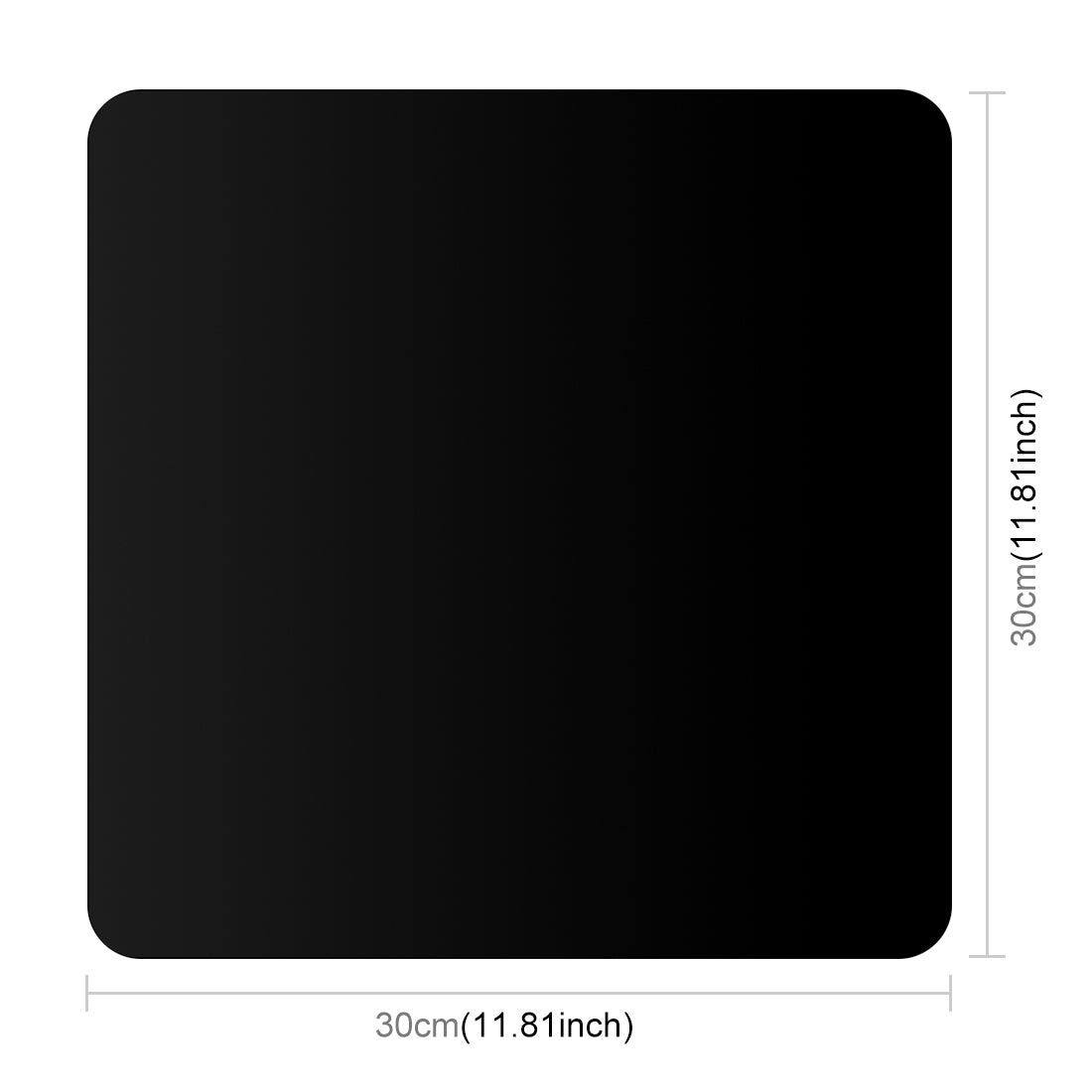 30cm Photography Acrylic Reflective Display Table Background Board (Black)
