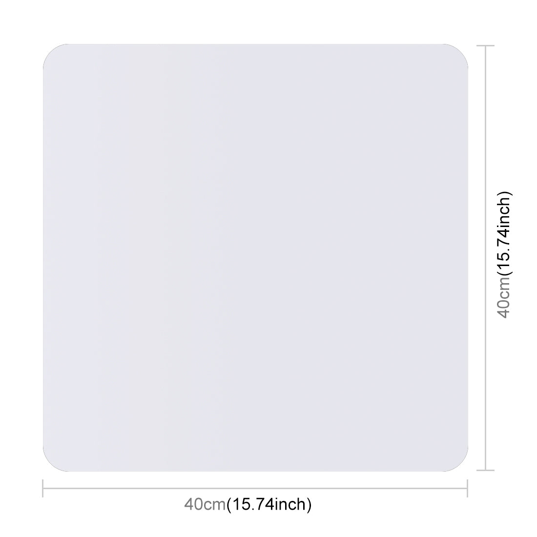 40cm Photography Acrylic Reflective Display Table Background Board(White)