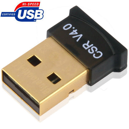 Micro Bluetooth 4.0 + EDR USB Adapter(V4.0), Transmission Distance: 30m(Black)