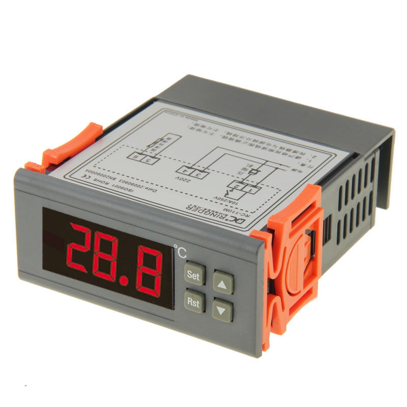 RC-110M Digital LCD Temperature Controller Thermocouple Thermostat Regulator with Sensor Termometer, Temperature Range: -40 to 110