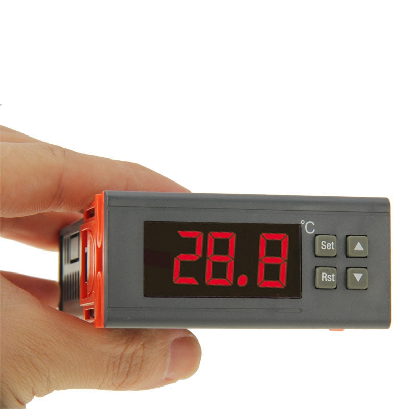 RC-210M Digital LCD Temperature Controller Thermocouple Thermostat Regulator with Sensor Termometer, Temperature Range: -40 to 110