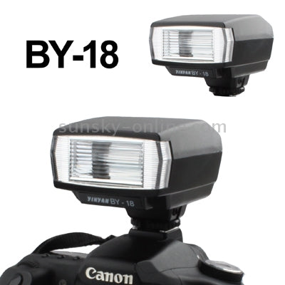 Universal Hot Shoe Camera Electronic Flash with PC Sync Port (BY-18)(Black)
