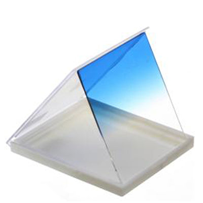 Square Gradual Change Blue Color Lens Filter(Blue)