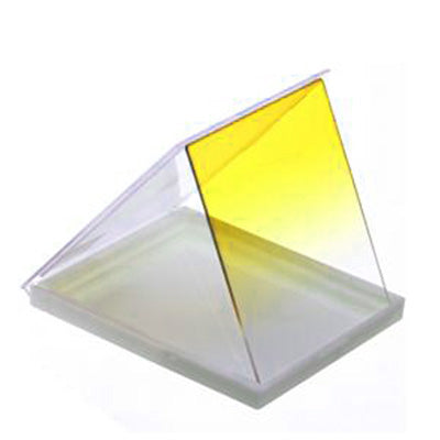 Square Gradual Change Yellow Color Lens Filter(Yellow)