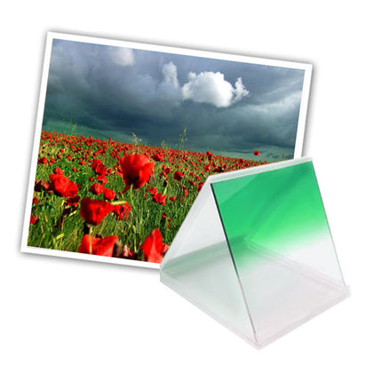 Square Gradual Change Green Color Lens Filter(Green)