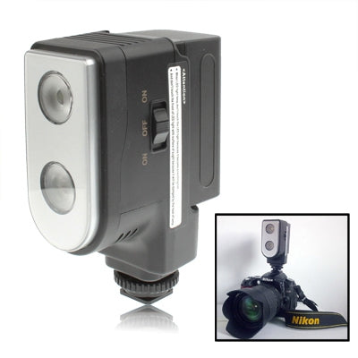 LED-5004 2 Digital LED Video Light with Two Grade Dimming Function(Black)