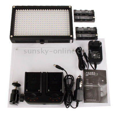 LED312AS 312-LED Video Light with 2 Filters for Camera / Video Camcorder