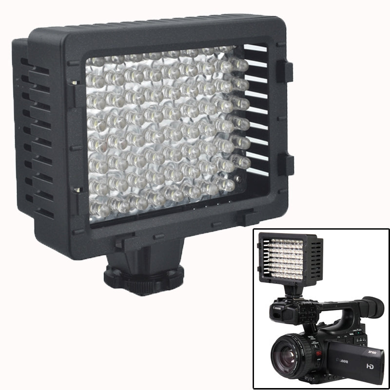 76-LED Video Light with 2 Filters for Camera / Video Camcorder (CN-76)(Black)
