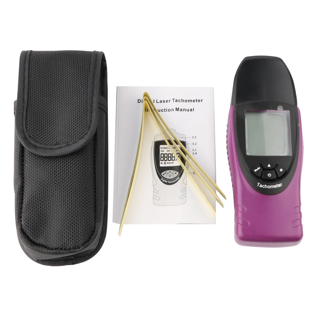 ST8030 Mini Digital Photo Laser Digital Tachometer Non Contact High Accuracy MPU LCD Display(Purple)
