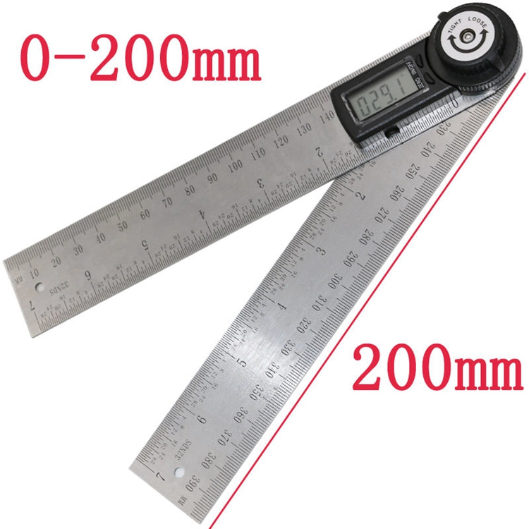 200mm 2-in1 Digital Angle Finder Meter Protractor Goniometer Ruler