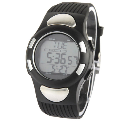 Multi-function Wireless Heart Rate Monitor Watch with Calendar & Time & Alarm(Black)
