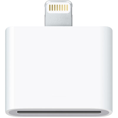 30 Pin Female to Male Adapter for iPhone 6 & 6 Plus, iPhone 5 & 5C & 5S, iPad Air / mini 2 Retina, iPod touch 5(White)