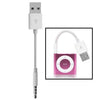 USB to 3.5mm Jack Data Sync & Charge Cable for iPod shuffle 1st /2nd /3rd /4th /5th /6th Generation, Length: 10cm(White)