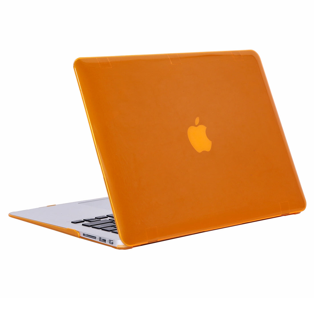 Laptop Crystal Hard Protective Case for MacBook Air 13.3 inch A1466 (2012 - 2017) / A1369 (2010 - 2012)(Orange)